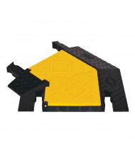 "Checkers 5-Channel 1.325"" Yellow Jacket Cable Protector 45-Degree Turn (Shown in Yellow / Black)"