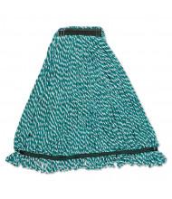 Rubbermaid Web Foot Microfiber Mop Head, Green, Pack of 6