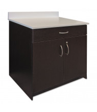 "Alera Plus 36"" W x 24"" D 2-Door/Drawer Hospitality Cabinet Base, Espresso/White"