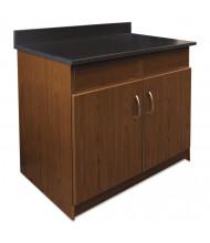 """Alera Plus 36"""" W x 24"""" D 2-Door/2-Flipper Door Hospitality Cabinet (Shown in Cherry/Granite Nebula)"""