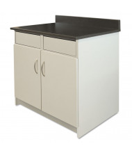 "Alera Plus 36"" W x 24"" D 2-Door/2-Flipper Door Hospitality Cabinet Base, Grey/Granite Nebula"