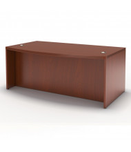 "Mayline Aberdeen ABD7242 72"" W Bow Front Office Desk (Shown in Cherry)"
