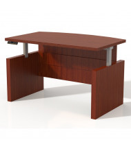 "Mayline Aberdeen 66"" W Electric Bow Front Height Adjustable Desk (Shown in Cherry)"