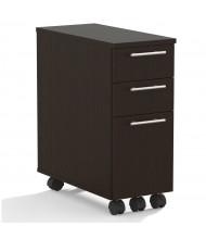 Mayline Medina 3-Drawer Box/Box/File Mobile Pedestal Cabinet (Shown in Mocha)
