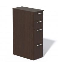 Mayline Medina Tall 4-Drawer Box/Box/File/File Mobile Pedestal Cabinet (Shown in Mocha)