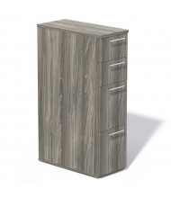 Mayline Medina Tall 4-Drawer Box/Box/File/File Mobile Pedestal Cabinet (Shown in Grey Steel)