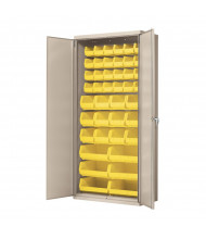 "Akro-Mils 18"" D Steel Cabinet Unit (Putty Cabinet, 42 AkroBins in Yellow)"