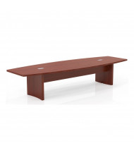 Mayline Aberdeen ACTB12 12 ft Boat-Shaped Conference Table (Shown in Cherry)