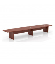 Mayline Aberdeen ACTB18 18 ft Boat-Shaped Conference Table (Shown in Cherry)