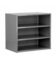 Akro-Mils Closed-Back Steel Shelving Unit (Shown in Charcoal)