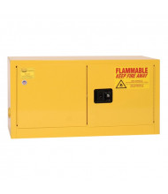 Eagle ADD-14 Self Close Two Door Flammable Safety Cabinet, 15 Gallons, Yellow