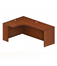 "Mayline Aberdeen AEC72L 72"" W Extended Corner Office Desk, Left (Shown in Cherry)"