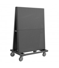 Durham Steel 1200 lb Double Sided Pegboard 14 ga A-Frame Truck