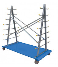 Vestil AFSR-3672 A-Frame Cart With Storage Rack
