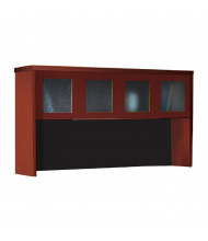 "Mayline Aberdeen AHG72 72"" W Hutch with Glass Doors (cherry)"