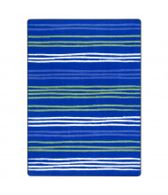 Joy Carpets All Lined Up Rectangle Classroom Rug, Seaglass
