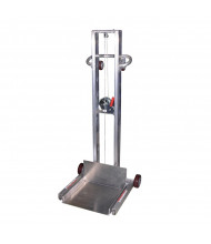 "Vestil 48"" to 58"" Lift 400 lb Load Low Profile Aluminum Lite Load Lifts (Winch with 4 Wheels)"