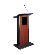 Amplivox Flat Contemporary Lectern with Sound System (Shown in Cherry)