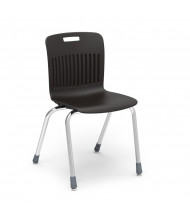 "Virco Analogy 18"" Seat Height 4-Leg Stacking School Chair (black)"