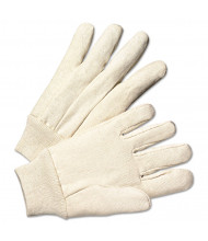 Anchor Light-Duty Canvas Gloves, White, 12/Pairs