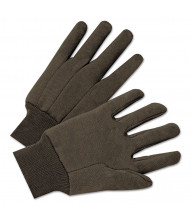 Anchor Brand Jersey General Purpose Gloves, Brown, 12/Pairs