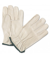 Anchor Brand 4000 Series Leather Driver Gloves, White, Medium, 12/Pairs