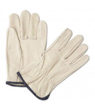 Anchor Brand 4000 Series Leather Driver Gloves, White, Large, 12 Pair