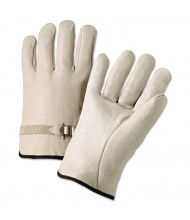 Anchor Brand 4000 Series Leather Driver Gloves, Natural, Large, 12 Pairs