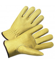 Anchor Brand 4000 Series Pigskin Leather Driver Gloves, Beige, Large, 12/Pairs