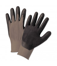 Anchor Brand Nitrile Coated Gloves, Gray/Dark Gray, Nylon Knit, Large, 12/Pairs