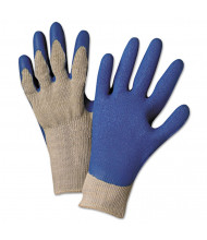 Anchor Brand 6030L Premium Knit-Back Latex-Palm, Gray/Blue, Large, 12/Pairs