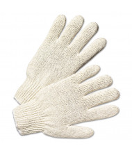 Anchor Brand String Knit Gloves, Large, Natural White, 12/Pairs