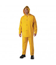 Anchor Brand Rainsuit, PVC/Polyester, Yellow, 3X-Large