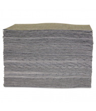"Anchor Brand Lightweight Universal Sorbent Pad, 15"" W x 17"" L, Grey, 100/Pack"