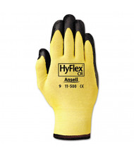 AnsellPro HyFlex Ultra Lightweight Assembly Gloves, Black/Yellow, Size 10, 12/Pair