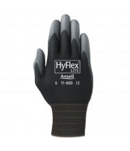 AnsellPro HyFlex Lite Gloves, Black/Gray, Size 8, 12/Pair