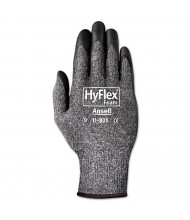AnsellPro HyFlex Foam Gloves, Dark Gray/Black, Size 10, 12 Pairs