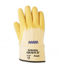 AnsellPro Golden Grab-It II Heavy-Duty Work Gloves, Size 10, Latex/Jersey, Yellow, 12/Pair