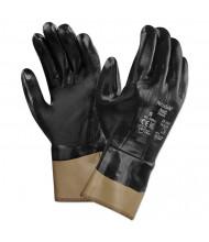 AnsellPro Nitrasafe Kevlar Work Gloves, Size 10, Kevlar/Nitrile/Jersey, Black/Brown, 12/Pairs