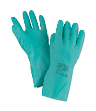 AnsellPro Sol-Vex Sandpatch-Grip Nitrile Gloves, Green, Size 10, 12/Pairs
