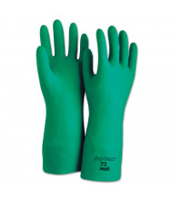 AnsellPro Sol-Vex Sandpatch-Grip Nitrile Gloves, Green, Size 9, 12/Pairs