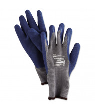 AnsellPro PowerFlex Gloves, Blue/Gray, Size 9