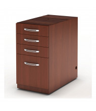 Mayline Aberdeen APBBF20 4-Drawer Pencil/Box/Box/File Suspended Credenza Pedestal Cabinet (Shown in Cherry)