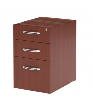 Mayline Aberdeen APBF20 3-Drawer Pencil/Box/File Suspended Credenza Pedestal Cabinet (Shown in Cherry)