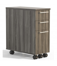 Mayline Medina 3-Drawer Box/Box/File Mobile Pedestal Cabinet (Shown in Grey)