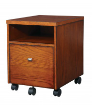 Office Star AR30 Mobile File in Medium Oak Finish