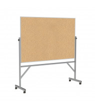 Ghent ARKK46 Natural Cork 6 ft. x 4 ft. Aluminum Frame Reversible
