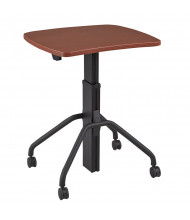 "RightAngle Arriba 27"" L x 30"" W x 27"" - 44"" H Laminate Top Gas Lift Adjustable Table. Shown with clasters"