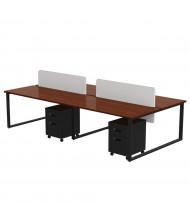 Marvel Aire 4-Unit Mobile Pedestal Modular Workstation (Shown in Mahogany/Black)