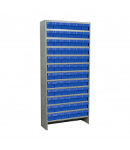"Akro-Mils 13-Shelf 12"" D Enclosed Steel Shelving Unit with AkroDrawer Bins (Shown with Blue Bins)"